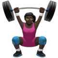 Woman Lifting Weights: Dark Skin Tone on Apple iOS 13.3