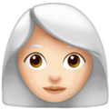 Woman: Light Skin Tone, White Hair on Apple iOS 13.3