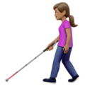 Woman With Probing Cane: Medium Skin Tone on Apple iOS 13.3