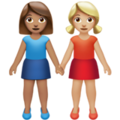 Women Holding Hands: Medium Skin Tone, Medium-Light Skin Tone on Apple iOS 13.3
