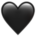 Black Heart on Apple iOS 14.2