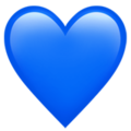 Blue Heart on Apple iOS 14.2