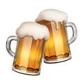 Clinking Beer Mugs on Apple iOS 14.2