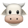 Cow Face on Apple iOS 14.2