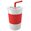 Cup with Straw on Apple iOS 14.2