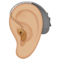 Ear with Hearing Aid: Medium-Light Skin Tone on Apple iOS 14.2