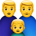 Family: Man, Man, Boy on Apple iOS 14.2