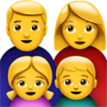 Family: Man, Woman, Girl, Boy on Apple iOS 14.2