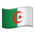 Flag: Algeria on Apple iOS 14.2
