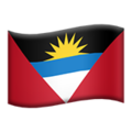 Flag: Antigua & Barbuda on Apple iOS 14.2