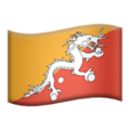 Flag: Bhutan on Apple iOS 14.2