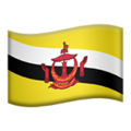 Flag: Brunei on Apple iOS 14.2