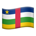 Flag: Central African Republic on Apple iOS 14.2