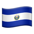 Flag: El Salvador on Apple iOS 14.2