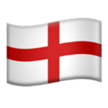 Flag: England on Apple iOS 14.2