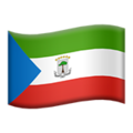 Flag: Equatorial Guinea on Apple iOS 14.2