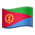 Flag: Eritrea on Apple iOS 14.2