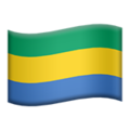 Flag: Gabon on Apple iOS 14.2