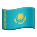 Flag: Kazakhstan on Apple iOS 14.2