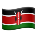 Flag: Kenya on Apple iOS 14.2