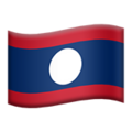 Flag: Laos on Apple iOS 14.2