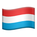 Flag: Luxembourg on Apple iOS 14.2