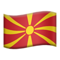 Flag: North Macedonia on Apple iOS 14.2