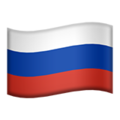 Flag: Russia on Apple iOS 14.2