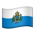 Flag: San Marino on Apple iOS 14.2