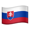 Flag: Slovakia on Apple iOS 14.2