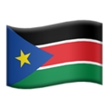 Flag: South Sudan on Apple iOS 14.2