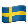 Flag: Sweden on Apple iOS 14.2