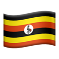 Flag: Uganda on Apple iOS 14.2