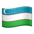 Flag: Uzbekistan on Apple iOS 14.2