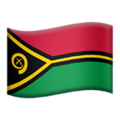 Flag: Vanuatu on Apple iOS 14.2