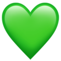 Green Heart on Apple iOS 14.2