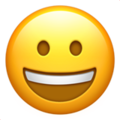 Grinning Face on Apple iOS 14.2