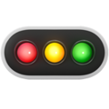 Horizontal Traffic Light on Apple iOS 14.2