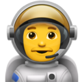 Man Astronaut on Apple iOS 14.2