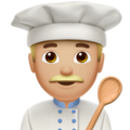 Man Cook: Medium-Light Skin Tone on Apple iOS 14.2