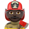 Man Firefighter: Dark Skin Tone on Apple iOS 14.2