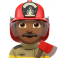 Man Firefighter: Medium-Dark Skin Tone on Apple iOS 14.2