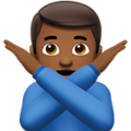 Man Gesturing No: Medium-Dark Skin Tone on Apple iOS 14.2