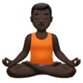 Man in Lotus Position: Dark Skin Tone on Apple iOS 14.2