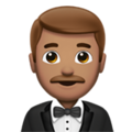 Man in Tuxedo: Medium Skin Tone on Apple iOS 14.2