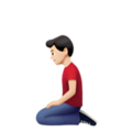 Man Kneeling: Light Skin Tone on Apple iOS 14.2