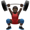 Man Lifting Weights: Dark Skin Tone on Apple iOS 14.2