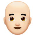 Man: Light Skin Tone, Bald on Apple iOS 14.2