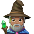 Man Mage: Medium Skin Tone on Apple iOS 14.2