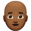 Man: Medium-Dark Skin Tone, Bald on Apple iOS 14.2